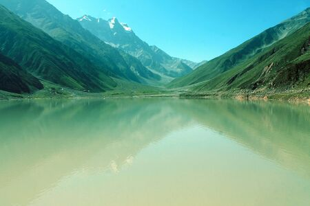 Saif ul Muluk Lake Beautiful Landscape Mountains View