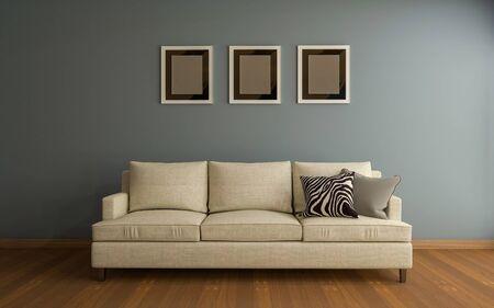 Realistic Mockup of living room Interior