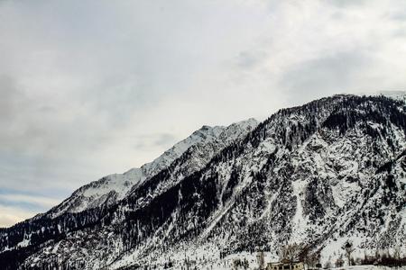 Malam Jabba and Kalam Swat Scenery Редакционное