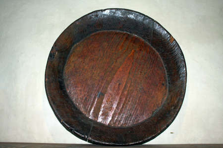A closeup shot of old kitchen things in the museum