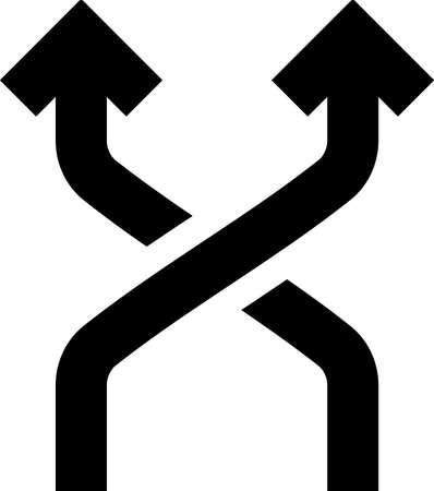 Direction Arrow UI Sign Design Иллюстрация