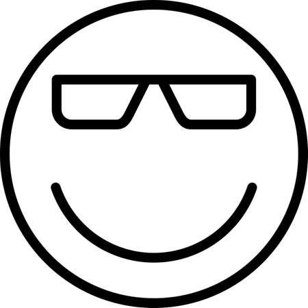 smiley emojy icon line icons Иллюстрация