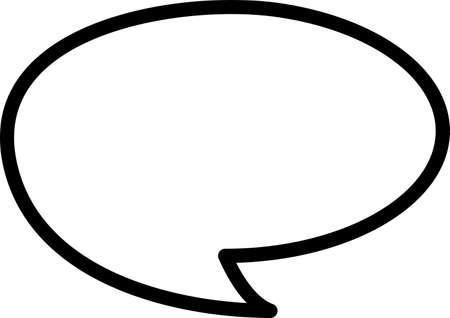 Speech bubbles line icons