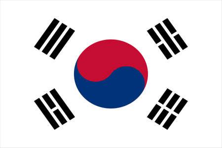 South Korea National Flag Иллюстрация