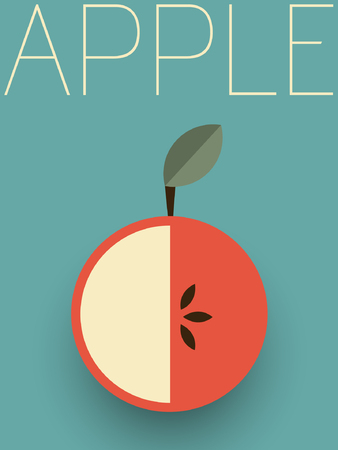 old fashioned vegetables: Retro Apple Illustration Illustration