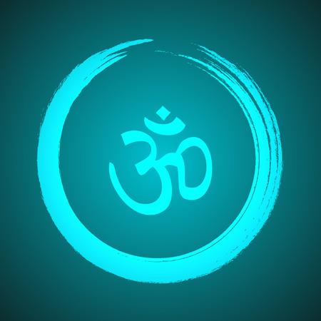 om symbol: Om Symbol in Zen Circle Illustration