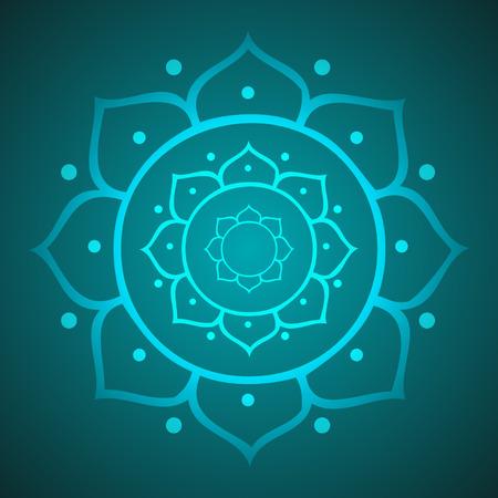 zen like: Lotus for Meditation Illustration
