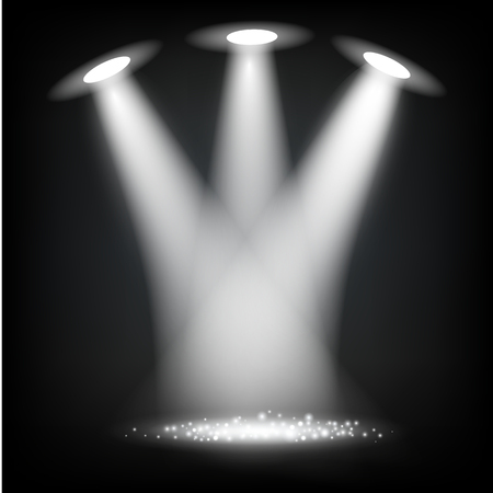 Reflector Lights Vector Illustration