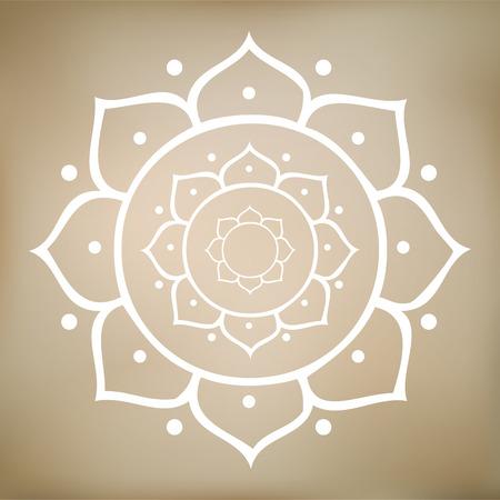 3d om: Lotus Mandala Vector Illustration