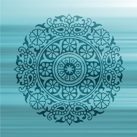 enso: Flower Mandala Vector Illustration