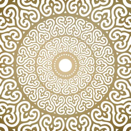 Vector Ornamental Flower Mandala Illustration