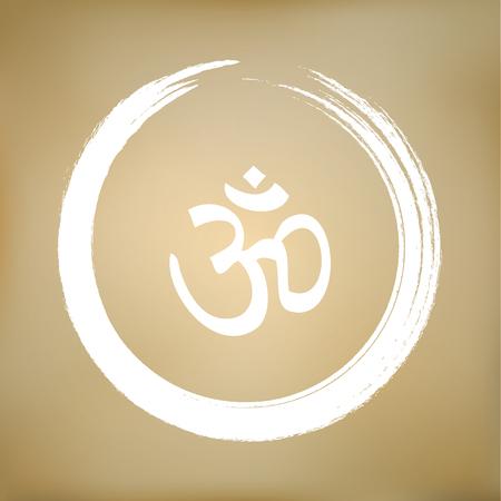 3d om: Vector Om Symbol in the Zen Circle