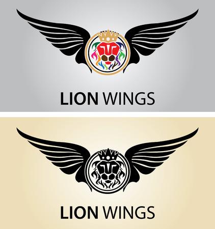 lion wings: Alas Le�n Vectores