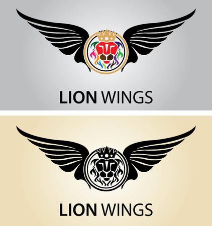 lion with wings: Lion Wings Illustration