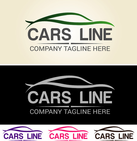 Diverse grafische auto's, gemakkelijk aangepast, geweldig voor auto logo basis, racing team en automotive gerelateerde. Bieden in AI, Stock Illustratie