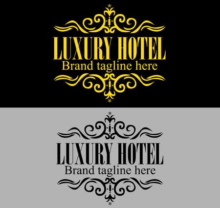 Luxueux modèle royale de logo approprié pour les entreprises et les noms de produits, de l'industrie de luxe comme hôtel, mariage et de l'immobilier. Facile à modifier, changer la taille, la couleur Logo