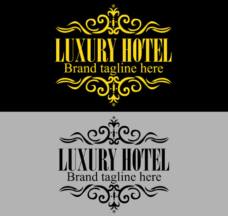 royal wedding: Luxurious royal logo template suitable for businesses and product names, luxury industry like hotel, wedding and real estate. Easy to edit, change size, color