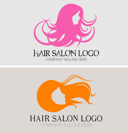 long hair woman: Hair Salon Logo is highly suitable for Hair Salon, Hair Products, Hair Studio, Professional Haircare, Hair Designer and Colorist, Hairdresser, Beauty Salon and many other businesses. Illustration