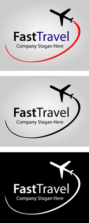 jet airplane: Airlines logo was made for your travel agency, airlines company, any travel themed website, promotional poster or similar.