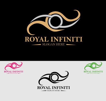social movement: Premium Royal and Luxury Crest Logo Design. Suitable for Spa, beauty Center, Real Estate, Hotel, Resort, House logo Illustration