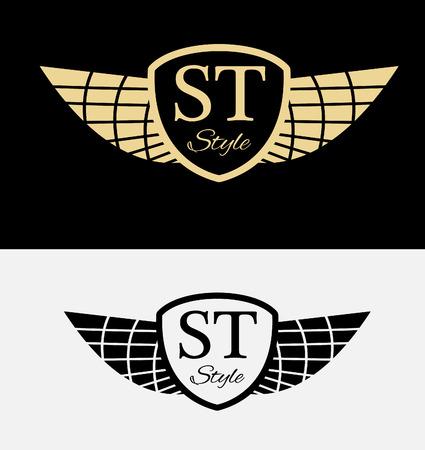 designer labels: Set of vintage designer badges and labels