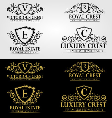 royal: Heraldic Royal Luxury Crest Logo Illustration