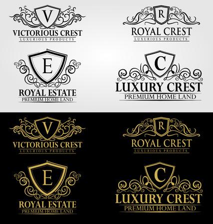 Heraldische Royal Luxury Crest Logo