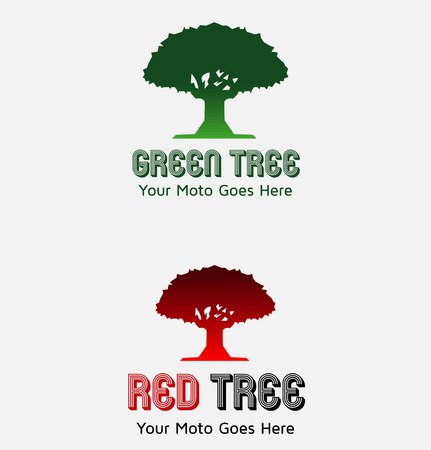 Collection of green tree Illustration