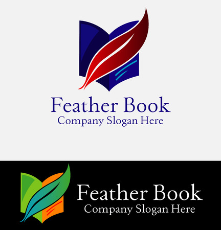 prose: book and feather. Company logo design.