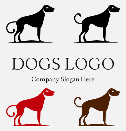 Set of hunting retriever icon, labels and badges