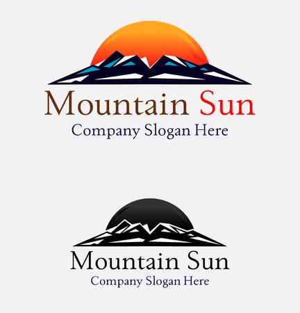 mountains sunset abstract illustration