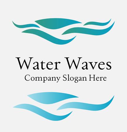 capricious: Set of wave symbols for design isolated on white
