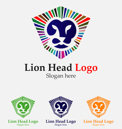 Lion Shield Logo Design Template Head Element For The Brand Identity