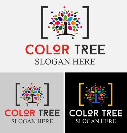Collection of colors tree - logos and icons