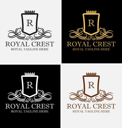 Koninklijke luxe Crest Logo sjabloon