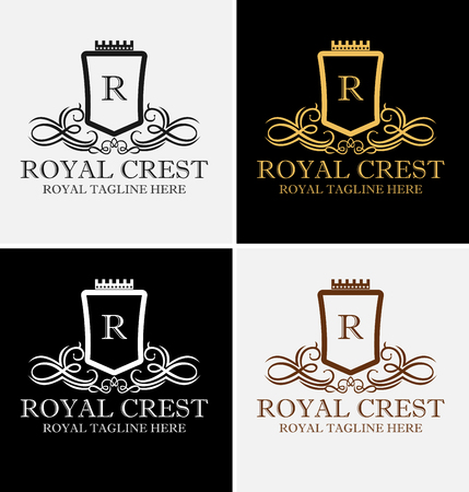 Royal Luxurious Crest Logo Template