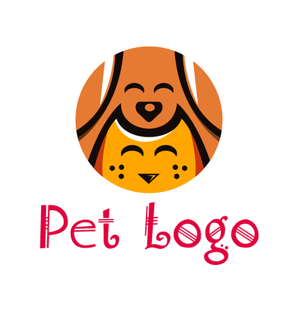wścieklizna: Pet Animal Shop Logo Template