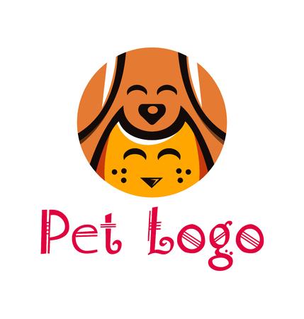 wścieklizna: Pet Animal Shop Logo Template