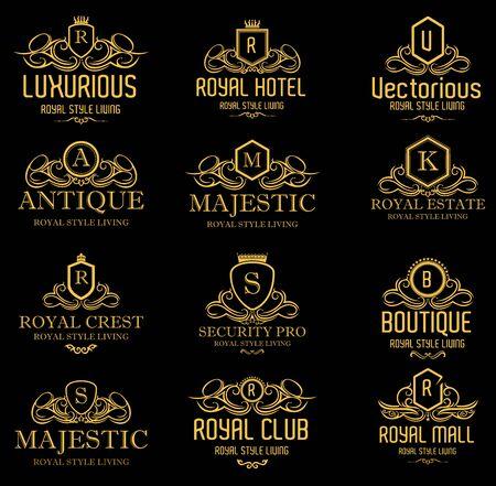 Heraldische Luxury Crest Logo