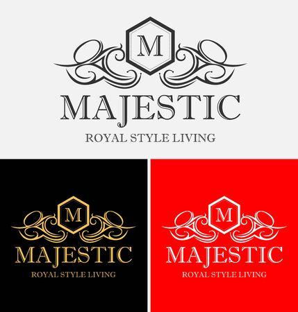 Majestic Heraldic Crest-logo Stock Illustratie