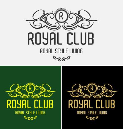 Heraldic Royal Club Crest Logo