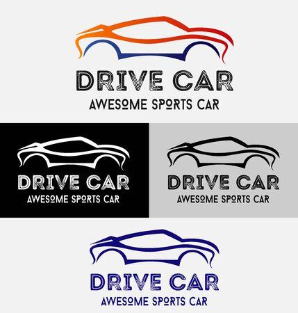 Car Drive Logo Stock Illustratie