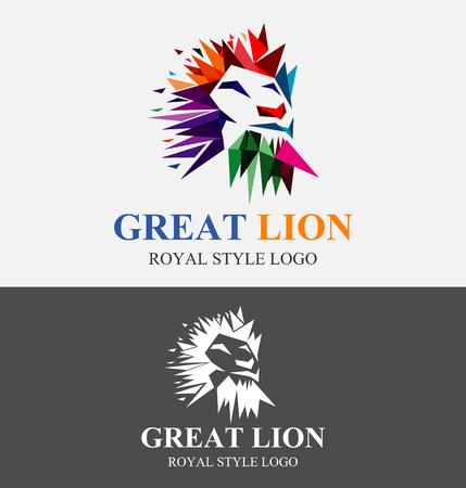 Colorful Valiant Logo Design. Lion Logo. Lion King Vector Design Template.