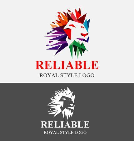 Lion Logo. Lion King Vector Design Template. Colorful Valiant Logo Design.