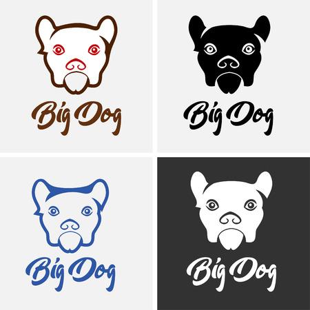 Dog Logo Pet Shop Illustration