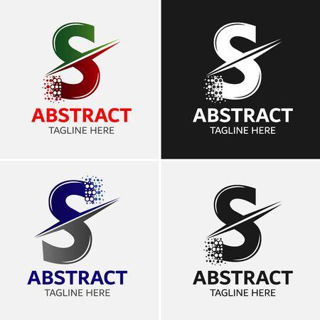 Letter S icoon ontwerp sjabloon elementen. Stock Illustratie