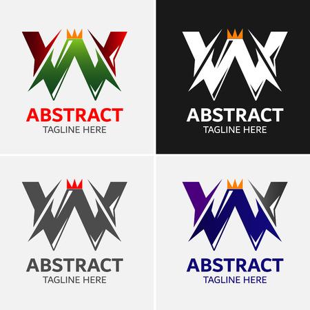 mosaic: Letter W logo icon design template elements Illustration