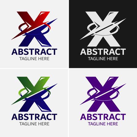 Letter X logo icon design template elementen Stock Illustratie
