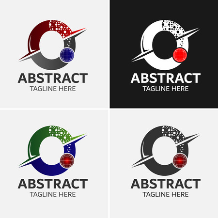 Abstract Letter O Logo Template