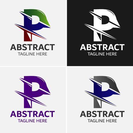 Abstracte letter P Logo Sjabloon